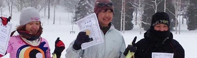 スノーデュアスロンBコース女子の部入賞