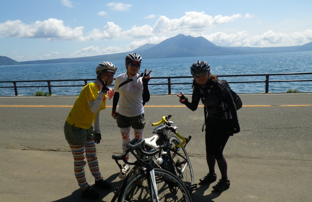 北海道サイクリングコース-支笏湖