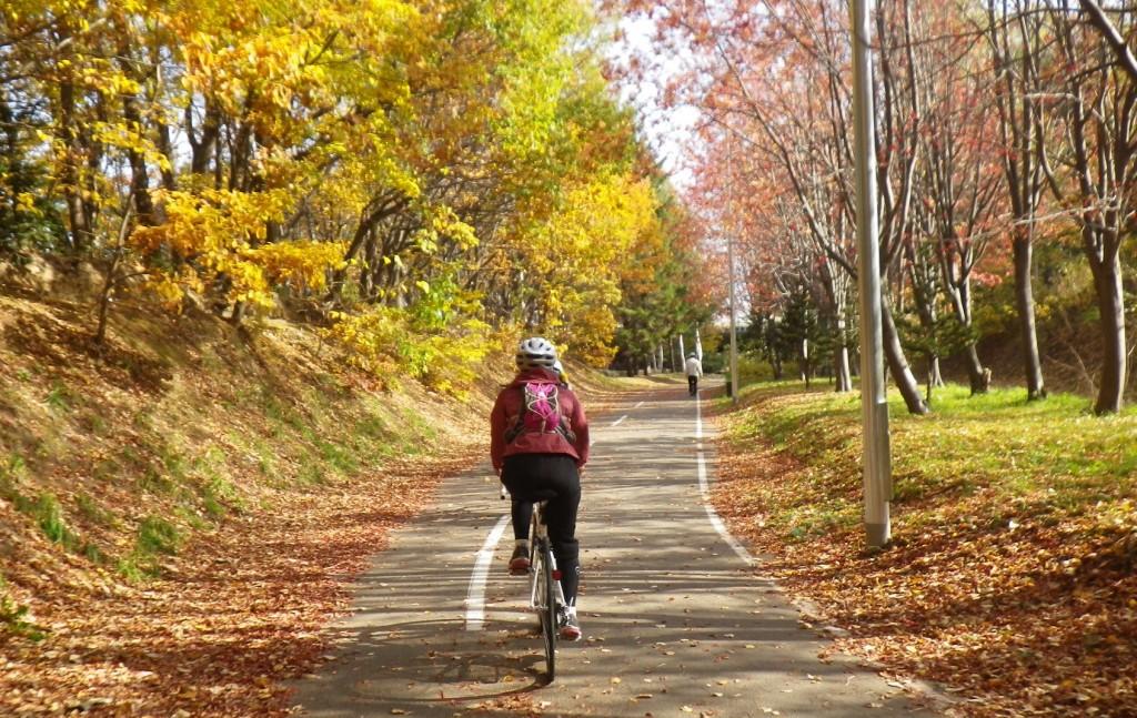 札幌サイクリングコース-紅葉