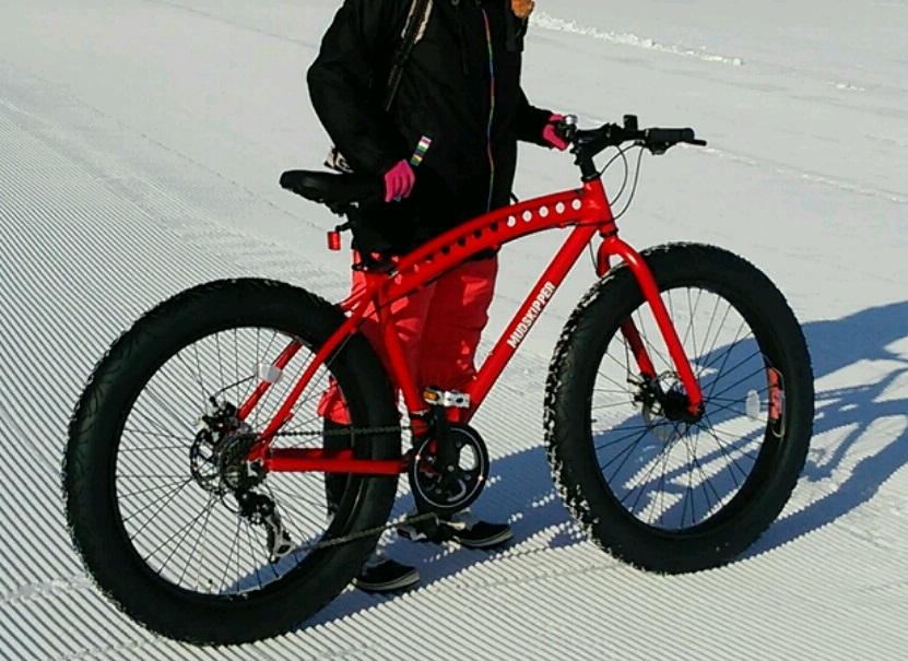 雪原を走る自転車 Fat Bike(ファットバイク)!!